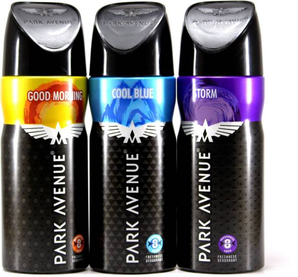 PARK AVENUE Cool Blue, Storm and Good Morning Combo Offer Deodorant Spray  -  For Men