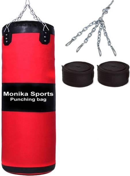 Monika Sports moni punching bag with handwrap Boxing Kit
