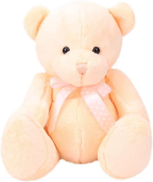 d9e9398be56 Starwalk Bear Plush With Polka Dotted Bow Light Orange Colour 25 cm - 25 cm