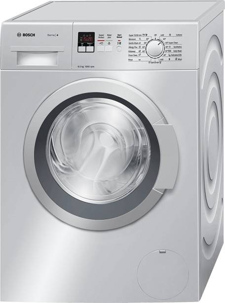 BOSCH 6.5 kg Fully Automatic Front Load with In-built Heater Silver