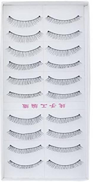 Siempre21 10 Pairs Black Sparse False Eyelashes Eye Lashes Extension Make up