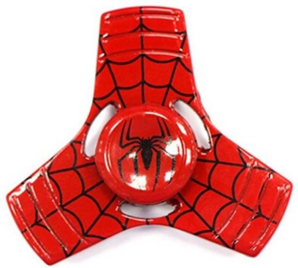PREMSONS Spider man FIDGET Spinner Toy for relieving ADHD, Anxiety, Boredom EDC Tri- Spinner Fidget Toy Smooth Surface Finish Ultra Durable Spinner Red