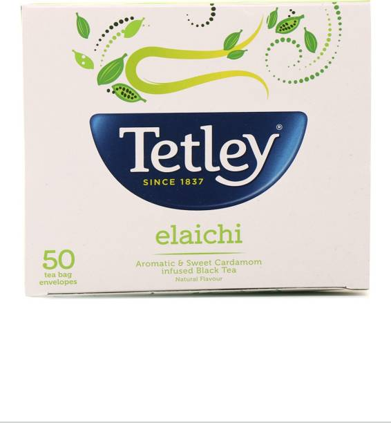 tetley Elaichi Black Tea Bags Box