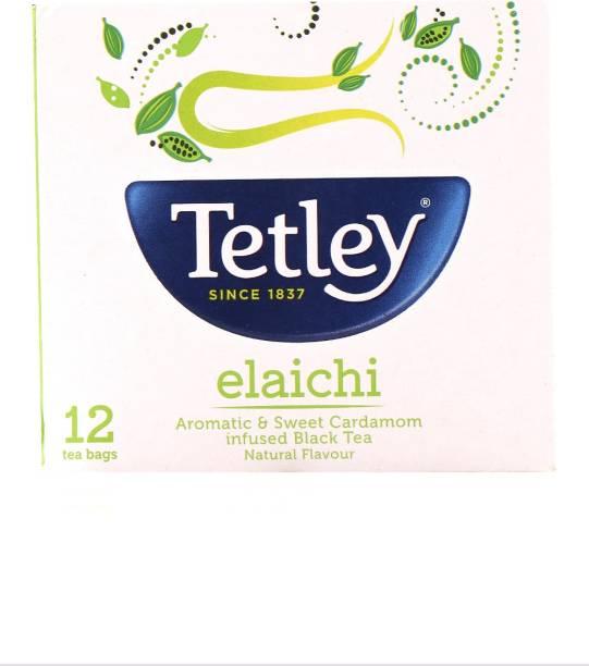 tetley Elaichi Black Tea Bags Box