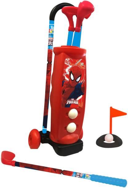 MARVEL Spider-Man Kids Trolley Golf Set