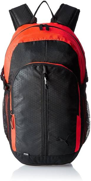 8d9c56f92b Puma 24.5 Ltrs Black and Red Blast Casual Backpack (7375811) 24.5 L Backpack