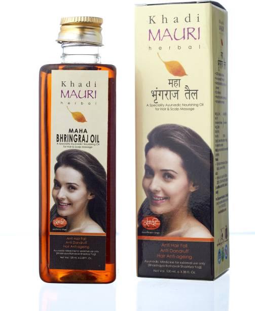 Khadi Mauri Maha Bhringraj Hair Oil- 250 ml - KING OF OILS - Anti Hairfall+Anti Dandruff - Ancient Ayurvedic Herbal  Hair Oil