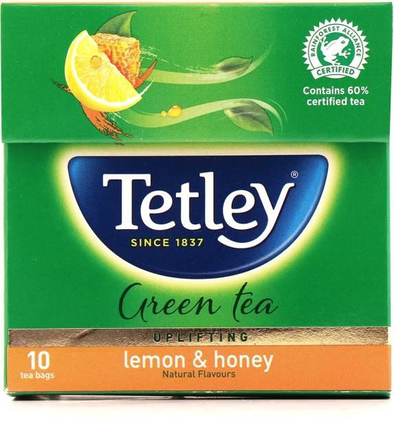 tetley Lemon & Honey Green Tea Bags Box