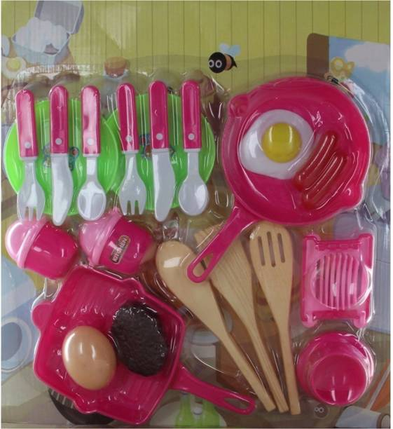 Hamleys Comdaq Kitchen Set with Pans and Cutlery