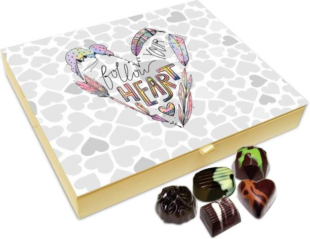 Chocholik Gift Box - Follow Your Heart Chocolate Box - 20pc Truffles