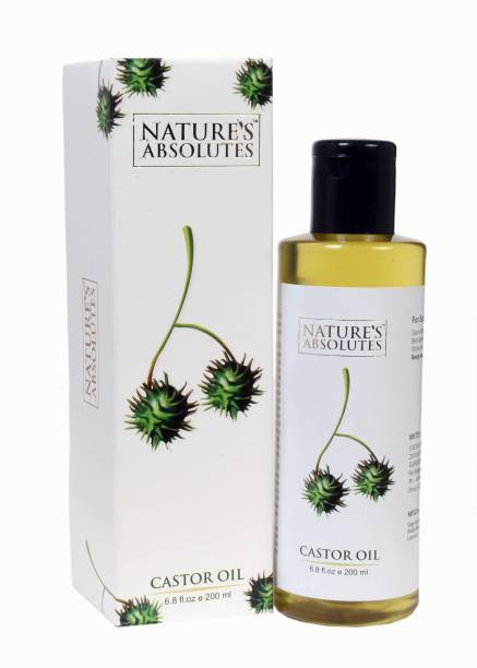 Nature's Absolutes Organic Castor Carrier Oil - 200 ml - Cold Pressed & Pure Premium Oil With Incredible Benefits For Hair, Skin, Eyelashes, Eyebrows & Nails