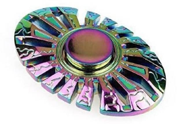 PREMSONS Fidget Spinner Metal Oval Wheel Gear Hand 5 7 Mins Spin Time Ultra Speed Tri Toy Metallic