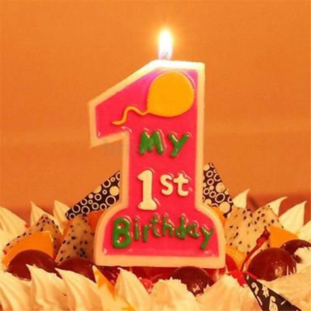 Number 1 Birthday Cake Candle 1st Candles Party Decorations