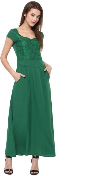d384eefdfd0 Green Dress - Buy Green Dresses Online at Best Prices In India ...