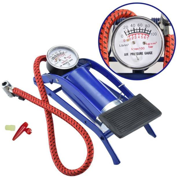 TECHNUV 100 psi Tyre Air Pump for Car & Bike