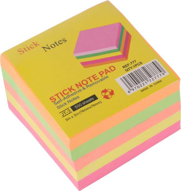 KABEER ART cube 100 Sheets 3x3inch, 5 Colors