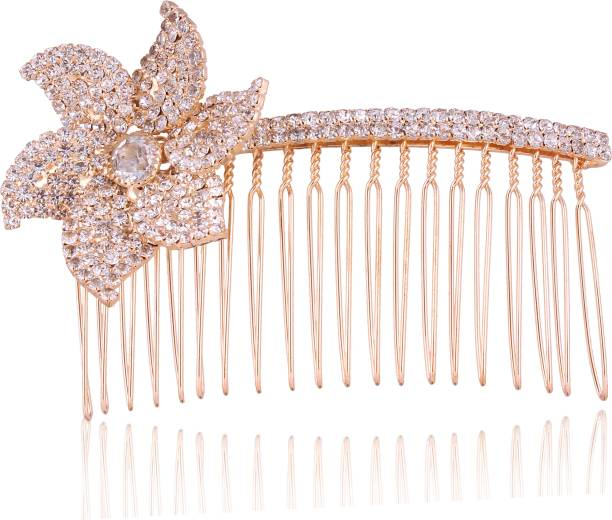 AccessHer Wedding and Party Wear Bridal hair Accessories Hair Clip/Comb Pin/ Jooda Pin For Girls And Women Hair Pin