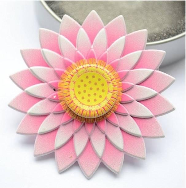 PREMSONS Fidget Spinner Toy high speed Alloy EDC Sun flower modelling hand Spinner
