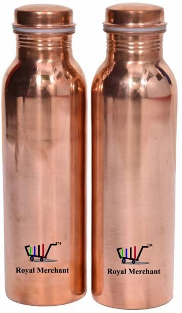 299541961 Royal Merchant Pure Handmade leakproof Premium Yoga Copper Bottle with matt  finish 1000 ml Bottle