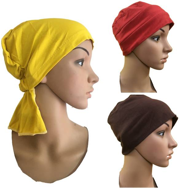 e21e3d4e3d6 GIRIJA Solid 3 PIECES COMBO PACK OF NECKWEAR CHEMO CAPS CANCER PATIENTS CAPS  UNDERSCARF CAPS UNDER