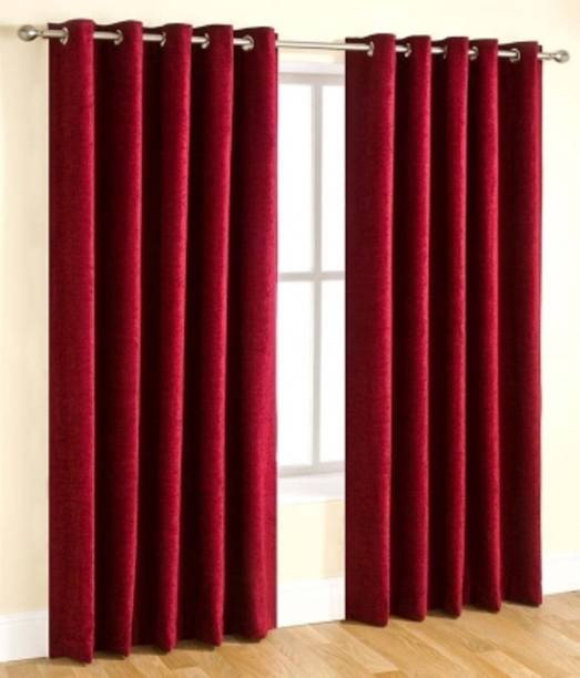 Achintya 213 Cm 7 Ft Polyester Door Curtain Pack Of 2