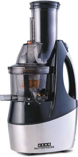USHA CPJ 36F CPJ 362F 240 W Juicer (2 Jars, Black Steel)