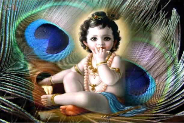 Bal Krishna Poster for Room Paper Print