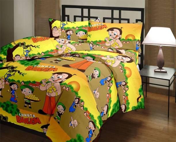 shree vediki enterprises 144 TC Polycotton Double King Cartoon Bedsheet