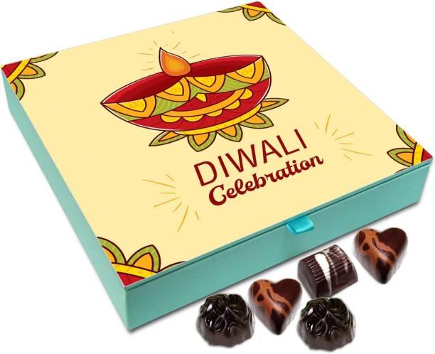 Chocholik Diwali Gift Box - Diwali Celebrations Are Very Auspicious Chocolate Box - 9pc Truffles