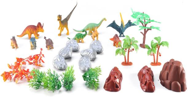 Toys Bhoomi Adventure Role Play Planet Dinosaur Toy Set with Carrying Case for Easy to Bring Along & Store