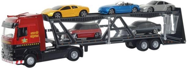Maisto Super Transport Truck Line Car Carrier Trailer Die-cast Toy Truck Model