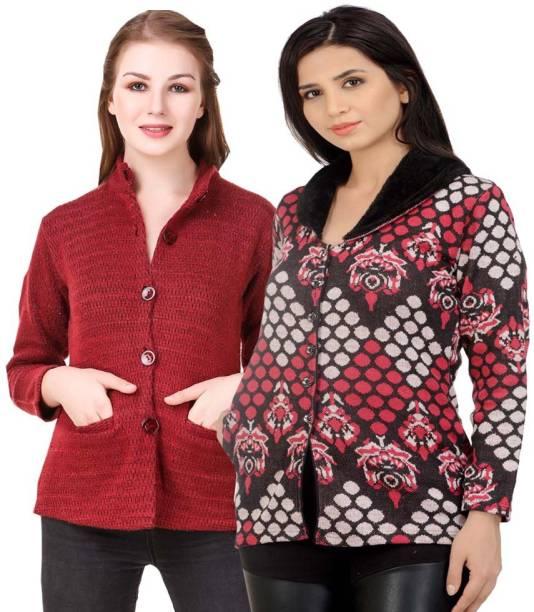 484bead2ecb70 Kritika World Women s Button Self Design Cardigan
