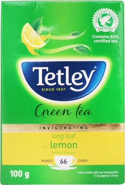 tetley Long Leaf Lemon Green Tea Box