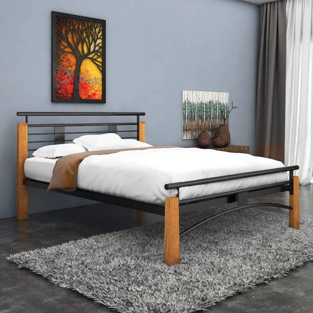 10860192fbff FurnitureKraft New York Metal Queen Bed