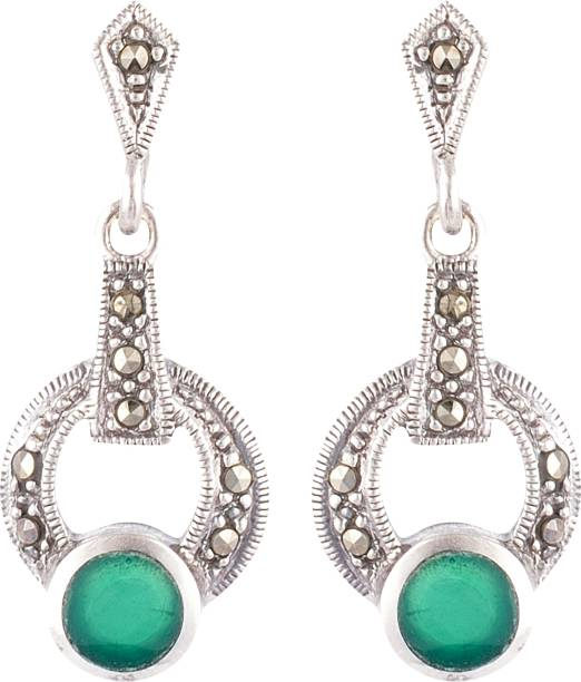 Subhash Jewellers Sj Apr 17 Spinel Sterling Silver Drop Earring