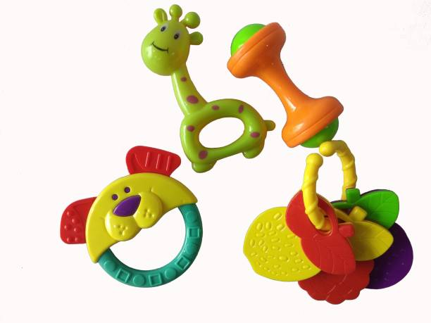 ODDEVEN Cute Rattle Toy for Kids- Set-.of 4 Rattle