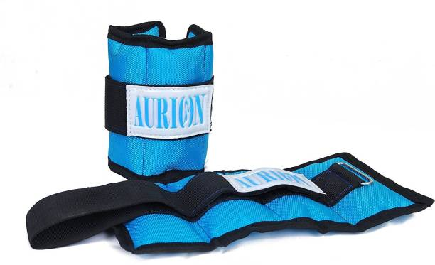 Aurion Wrist Weights 1 Kg x 2 Total 2 kg Home Gym Weight Bands perfect for fitness Blue Ankle & Wrist Weight