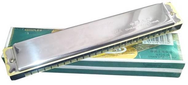 AVB Hero Special 48 Holes Chromatic Mouth Organ / Harmonica / French Harp / Harmonicon / Kazoo / Panpipe (8 Inch 20 Cm) Long Steel