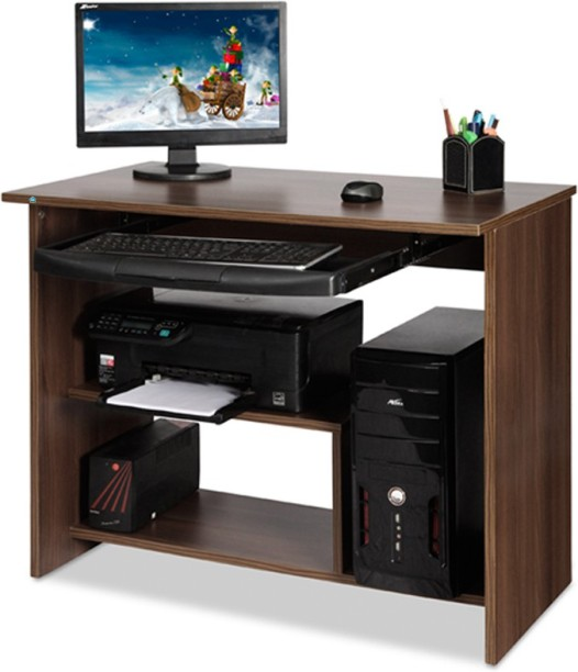 Delite Kom Lucky Computer Table Acacia Dark Engineered Wood Computer Desk