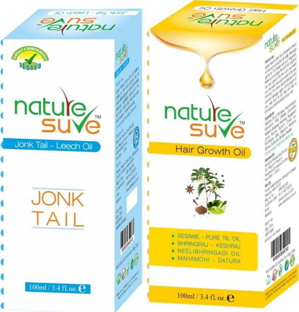 Nature Sure Combo pack of Jonk Tail ( Leech Oil) 100ml and Hair Growth Oil - 100ml Hair Oil