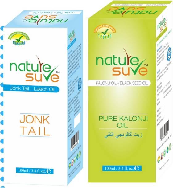 Nature Sure Combo pack of Kalonji Oil-100ml and Jonk Oil (Leech Oil)-100ml Hair Oil