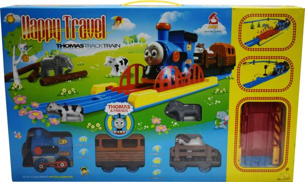 Gift World New Happy Travel Full Function Track Train Set