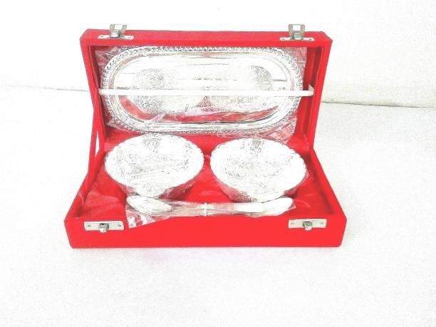 Yogi Silver Plated Decorative Platter