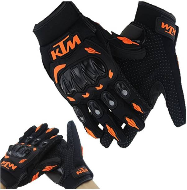 Enfield Works KTM Gloves KTM Bike Riding Gloves Orange and Black Color For KTM DUKE 200