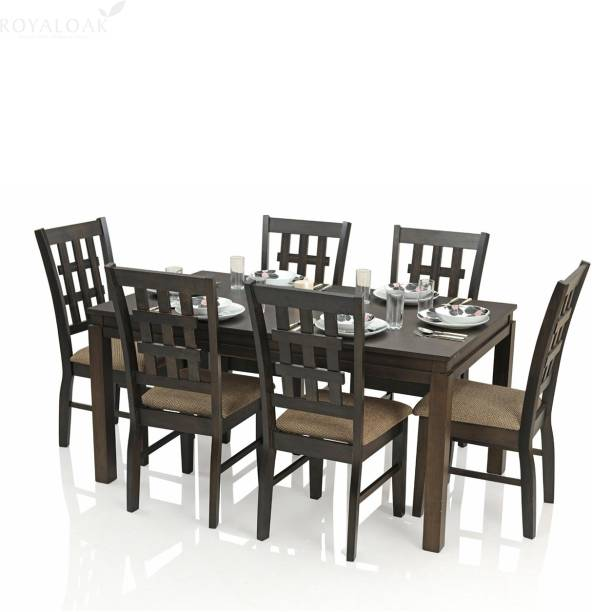 RoyalOak Vega Solid Wood 6 Seater Dining Set