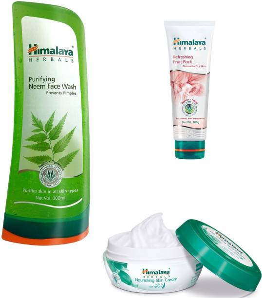 Himalaya Herbals Purifying Neem Face Wash, Refreshing Fruit Pack, Nourishing Skin Cream