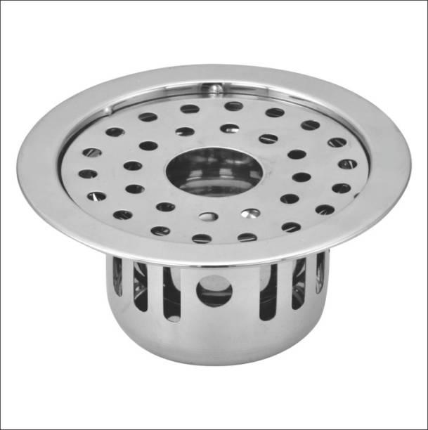 KAMAL Floor Stainless Steel Push Down Strainer