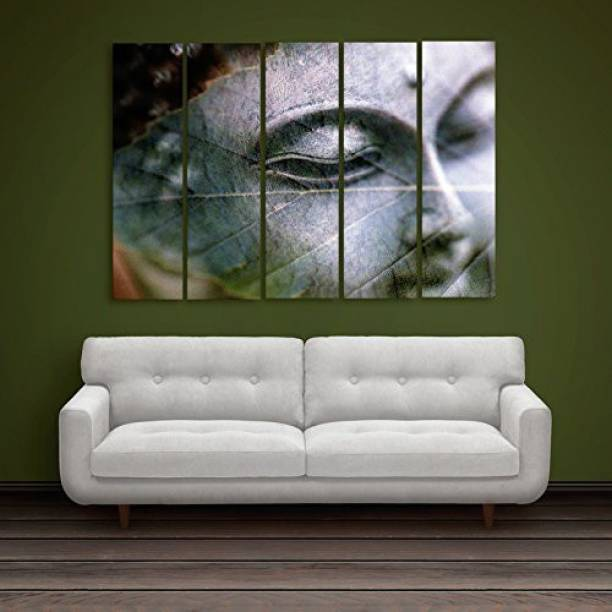 Hazzelnut Multiple Frames | BUDDHA WOODEN FRAMED ART PANELS | | 7MM BOARD READY TO HANG | Digital Wall Painting (148cm x 76cm) Ink 30 inch x 50 inch Painting