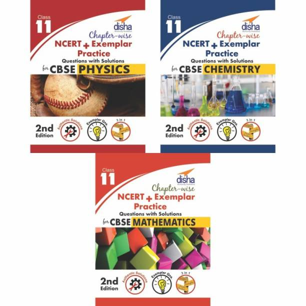 Chapter-wise NCERT + Exemplar Solutions for CBSE Class 11 PCM (set of 3 books) - 2nd Edition Second Edition
