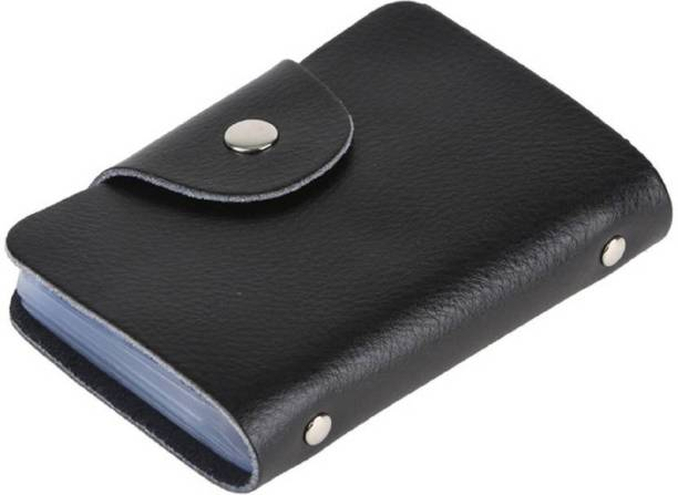 Sadarbazaarsales.Com Fine Quality Artificial Leather 12 Card Slots Debit/Credit/Visiting/ID 15 Card Holder
